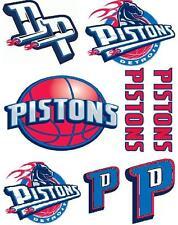 Detroit Pistons Scrapbooking Craft Sticker Sheet Set #1