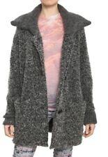 ISABEL MARANT ETOILE $420 Designer Grey Wool Boucle Knit Cardigan Coat S.36