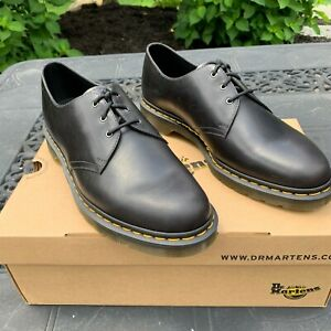 DR. MARTENS 1461 SIZE 13 GUNMETAL ORLEANS WP LEATHER OXFORD SHOES 22829029