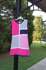 Girl's Gymboree Bright Ideas GEO pink graynavy bluesweater dress EUC Size 7