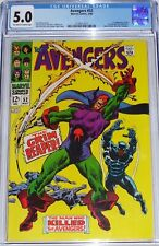 Avengers #52 CGC 5.0 Black Panther joins. 1st appearance of the Grim Reaper