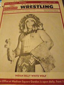WWWF NWA 1976 Wrestling program Madison Square White Wolf Haystacks Graham rare