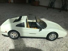 Vintage Mattel Barbie White Ferrari Convertible Car With Original Box,1986