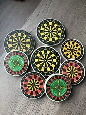 Vintage 80s 90s Erasers Rubbers - Selection of Vintage Dart Board Erasers