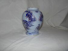 NEVERS : VASE à décor au chinois asiatique, XVIIème, XVIII ème siècle TRES RARE