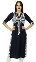Bimba concepteur droite noire concepteur rayonne kurta avec la veste-dUS