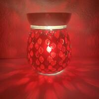 Red Mirror Electric Wax Warmer/Burner & 10 Handpoured Scented Melts (3105)