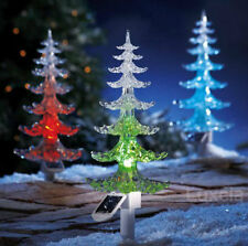 48 cm Large  Solar Powered Christmas Tree Colour Changing Light Garden Ornament