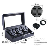 XTELARY 3 Motors Automatic Rotation 6+7 Watch Winder Storage Case Display Box