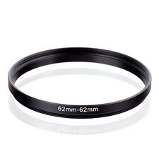RISE(UK) 62mm-62mm 62-62 mm 62 to 62 Extend Ring Filter Adapter black