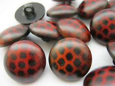 """10 botones de caña marrón 18mm (3/4"""") Hombre Chaqueta abrigo Aran Cárdigan Botones de costura"""