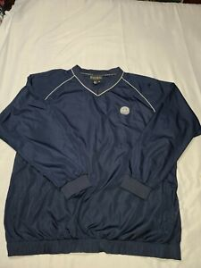 FootJoy FJ Mens Pullover Golf Jacket Windbreaker Long Sleeve Navy Blue XXL