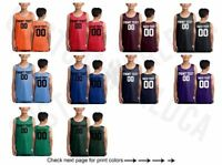 Customized Youth Jersey Name Number Team Shirts Personalized Text Basketball Tee