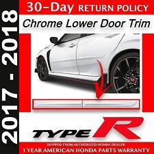 Genuine OEM Honda Civic TYPE R Body Side Molding Kit 2017-2018 5dr HatchBack (R)