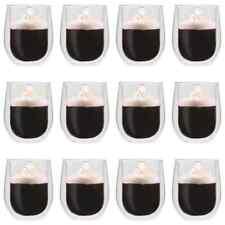 vidaXL 12x Thermoglas Dubbelwandig Espresso Glas Beker Glazen Mok Thermoglazen