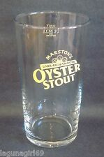 Marston's Oyster Stout Beer Pint Glass Pub Home Bar Used