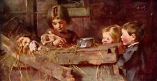 MARIANNE STOKES 1886 Oil Painting CHILDHOOD'S TREASURES Vintage 1930 Book Print