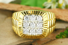 2.00 Ct Rolex Engagement Men's Wedding Band Ring 14K Yellow Gold Over