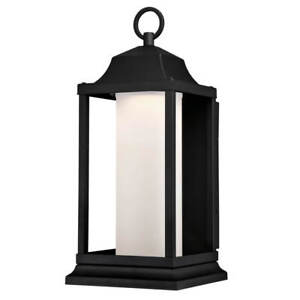 Outdoor Wall Light Fitting Garden Wall Lantern Brook Black 12 W LED Dimmable