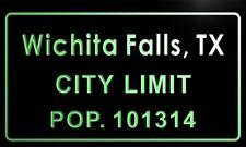 t69767-g Wichita Falls, TX City Limit POP. 101314 Indoor Neon Sign
