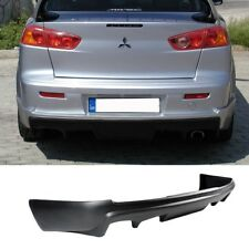 08-15 MITSUBISHI LANCER REAR BUMPER LIP ADD ON DIFFUSER BODY KIT POLY