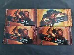 Innistrad Midnight Hunt promo packs 3 regular 1 Foil