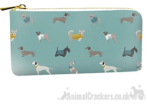 Dogs design Purse Wallet zipped compartments Dachshund Frenchie Pug lover gift