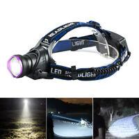 10000LM XM-L T6 LED Headlamp Tactical Headlight Flashlight rechargeable QA