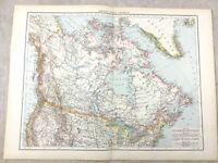 1895 Map Of Kanada Britische Colonial North America Alt Antik 19th Century Groß