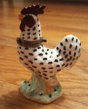 """New ListingGenmore Corp Rooster hinged trinket box porcelain 4"""" collectible"""