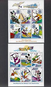 1980-2000 Walt Disney-Mickey Mouse, Goofy, Pluto,Cinderella etc.SS's,stamps, M