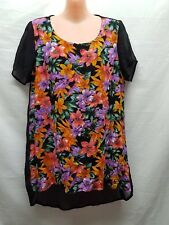 JUST ADD SUGAR BRIGHT COLOUR FLOWER TOP SIZE 12 SMART CASUAL WEAR