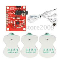 AD8232 ECG Measurement Module Pulse Heart Signal Monitor Sensor Kit W/ Cable !