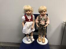 Gabriele Müller Porzellan Puppen Marlene & Max 30 cm. Top Zustand