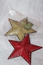 Seasons of Cannon Falls Christmas Star Tree Ornament - Red & Green
