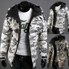 New Fashion Men's Winter Warm Camouflage Hooded Coats Outwear Padded Jackets#