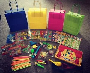 PRE FILLED PARTY BAGS with sweets toy tattoo balloon puzzle CHILDREN BIRTHDAY
