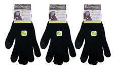 Mens Touch Screen Gloves Black iPhone Android Smart Phone Winter Magic 3 Pairs