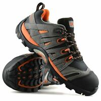 Mens New Leather Safety Steel Toe Cap Work Ankle Hiker Boots Trainers Shoes Size