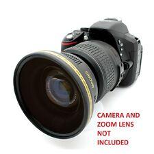Nikon D3200 D5300 D5200 D5100 52MM 0.43x Soft Fisheye Wide Angle Macro Lens HD
