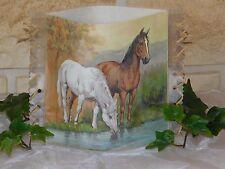 Tischlicht/Windlicht - Pferde - Wildpferde am Fluß