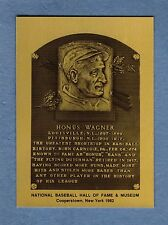 Honus Wagner, Pirates ~ Official Hall of Fame Metallic Plaque-card (1 of 1,000)