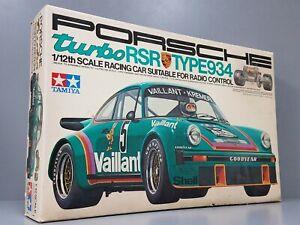 "New Vintage Tamiya R/C 1/12 Porsche RSR 934 Turbo RA-1201 ""1976 Original Kit"""