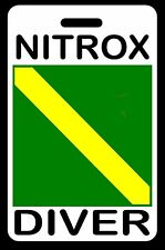 "SCUBA Diving Luggage/Gear Bag Tag - ""NITROX Diver"" - New"