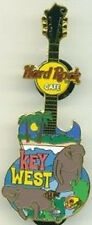 Hard Rock Cafe KEY WEST 2004 MANATEES Guitar PIN Palm Trees Setting Sun GIBSON