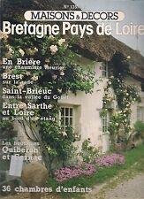 """MAISONS & DECORS N° 135 """"AOUT 1978""""--BRETAGNE PAYS DE LOIRE--EN BRIERE/BREST"""