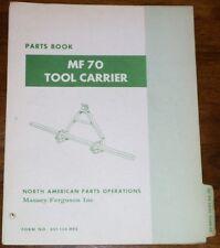 Massey Ferguson MF70 Tool Carrier Parts Manual
