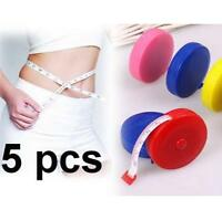 5x Retractable Tape Measure Sewing Tailor Dieting Tapeline Ruler Tiny 、Nice