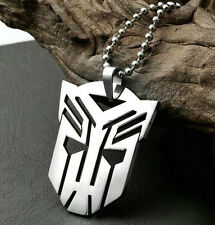 Transformers Auto bot 316L Stainless Steel Necklace Pendant  60cm Chain
