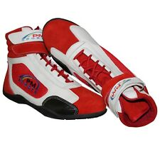 Adult Red Karting / Race/Rally/Track Boots Shoes with Synthetic Leather/Suede